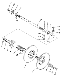1977 yamaha exciter 440 ex440a secondary sheave parts best oem secondary sheave parts diagram for 1977 exciter 440 ex440a motorcycles
