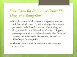 understanding primary secondary sources kwl  head a sheet of  short essay for from anne frank the diary of a young girl  both the