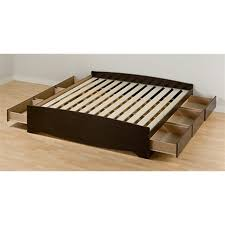 Prepac Mate's Espresso King Platform Bed with Storage at Lowes.com