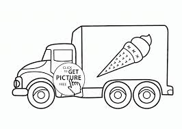 Coloring Pages Iceream Truckoloring Page For Kids Transportation