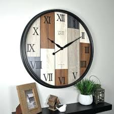 firstime wall clock amp timberline slat in wood