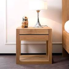 wooden bedside table lamp graceful wooden bedside table with single drawer and white drum table lamp