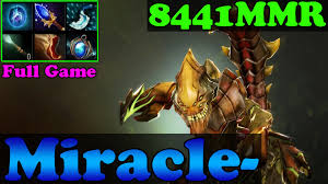 dota 2 miracle 8441mmr plays sand king mid lane full game