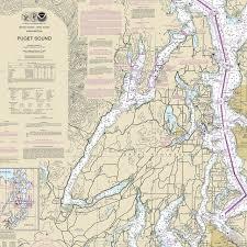 Nautical Chart Pillows Hood Canal Nautical Chart Pillow