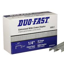 duo fast 1 4 galvanized wide crown staple 5008 c asc industrial staplers