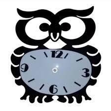 owl shaped wall clock in stan
