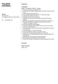 Ux Designer Resume Sample Velvet Jobs
