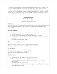 Sample Resume For Cna Resume Samples Fair Resume Samples For With No ...