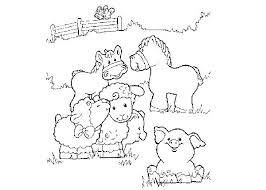 Baby Animal Coloring Baby Farm Animal Colouring Pages Farm Animal