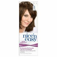 Nice N Easy Light Ash Brown Non Permanent Clairol Nice N Easy Hair Color 75 Light Ash Brown Uk Loving Care 4 Pack Ebay