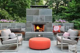 boston outdoor fireplace with modern outdoor sectional sets patio midcentury and orange ottoman tile floor