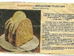 Duncan Hines Lemon Supreme Pound Cake Duncan Hines Mastercook