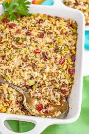 A fresh take on the standard stuffing, this wild rice dressing is studded with tart cranberries and vibrant green herbs. Wild Rice Dressing Gf V Family Food On The Table