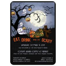 halloween invitations cards eat drink and be scary a spooky graveyard halloween party invitation