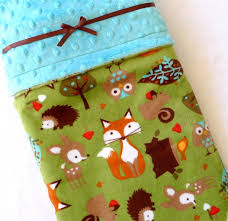 kids bedding minky baby blanket baby blanket woodland baby blanket fox baby