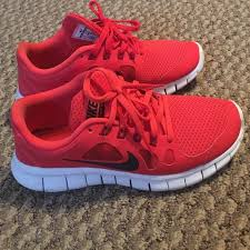 nike running shoes red. red nike frees 5.0 running shoes e