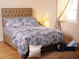 image of waverly blue and white toile bedding