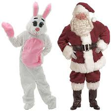 Santa and the Easter Bunny