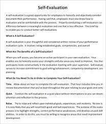 Self Evaluation Sample Bravebtr