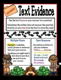 Finding And Citing Text Evidence Poster Mini Anchor Chart