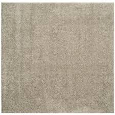 safavieh arizona silver 7 ft x 7 ft square area rug
