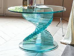 spiral glass coffee table effective spiral base coffee table glass coffee table modern living cattelan italia