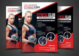 Fitness Flyer Fitness Flyer Gym Flyer Templates Flyer template and Template 1
