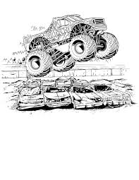 Monster Jam Coloring Pages To Color Kleurplaten