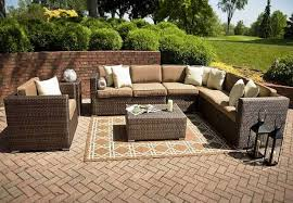 Decorating Small Outdoor Sectional Sofa With Coffee Table And Outdoor Furniture Sectional Clearance