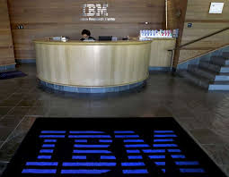 a welcome mat features an international business machines corp ibm logo in the