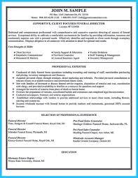 Athletic Resume Template Free Director Resume Funeral Sample Embalmer Home Samples Attendant 49