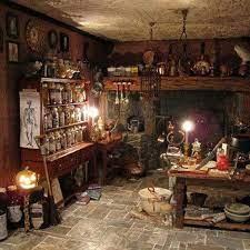 Kitchen Magic Kitchen Witch Dollhouse Halloween Witch Cottage