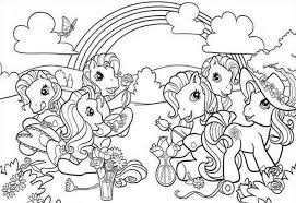 Small Picture My Little Pony Doing Flower Arrangement Coloring Page Download