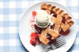 cherry pie slice with ice cream. Interesting Pie With Cherry Pie Slice Ice Cream L