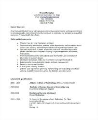 Resume Objective For Nurse Resume Objective Nurse Resume New Grad
