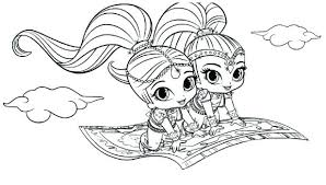Shimmer Shine Coloring Pages And Nick Jr Yoloerco