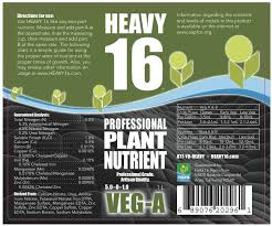 Heavy 16 Nutrient Chart Nutrient Comparison Testing Page 2 Thcfarmer Cannabis