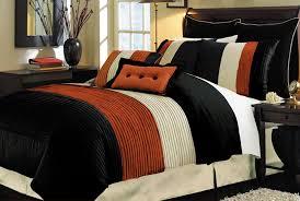 33 first rate burnt orange comforter set modern bedroom with queen milano black brick regarding and inspirations 0