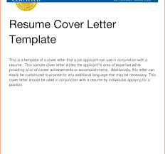 Basic Cover Letter For Resume Templates Apptemplateorg Simple In