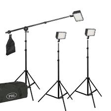 led light kit led160 portable battery operated three light boom lighting kit