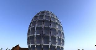 solar panel egg shaped building - 3 floors- full copy/modify/transfer  permission / 48 land impact*new builder special