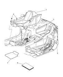2006 chrysler 300 carpet front floor diagram 00i98463