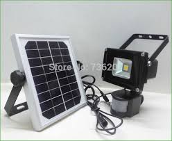 lighting motion detector flood lights with alarm motion detector flood lights 1pcs lot 10w solar