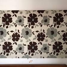 large flower fabric print 2m x 1m wall