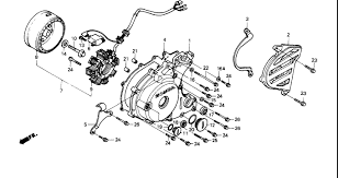 honda trxx wiring schematic image 1987 honda fourtrax 250 trx250x left crankcase cover parts best on 1987 honda trx250x wiring schematic