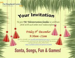 Teleintervention End Of Year Celebration Invitation The Shepherd