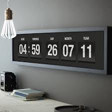 personalised vintage flip clock print