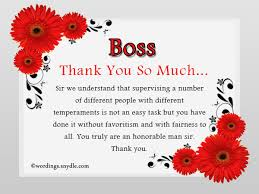 Thank You Message To Boss Thank You Notes For Boss Wordings And Messages