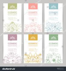 Cosmetic Label Design Template Vector Set Templates Packaging Cosmetic Label Stock Vector