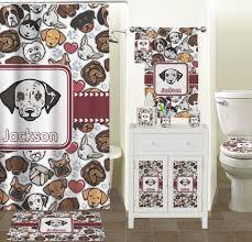 Dog Bathroom Accessories Dog Faces Bathroom Accessories Set Ceramic Personalized